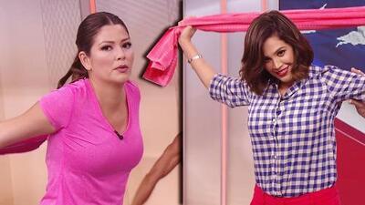 Claudia Molina sorprendió a Ana Patricia (y hasta a Karla) con estos ejercicios con una toalla