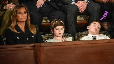 Niño invitado por Melania Trump al Estado de la Unión, se quedó dormido en pleno discurso