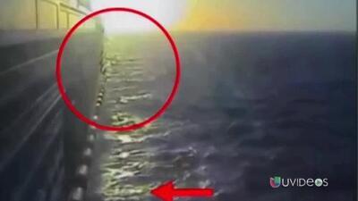 Policía brasileña difunde video del mexicano que saltó de un crucero