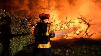 Vuelven a declarar estado de emergencia en California por los fuegos de maleza y fuertes vientos