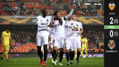 Valencia completó la obra y eliminó a un alicaído Villarreal