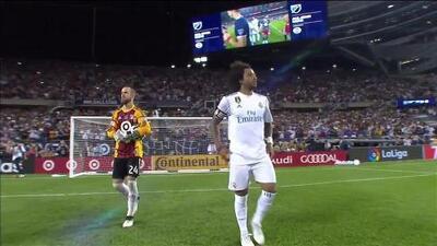 Goooolll!! Marcelo mete el balón y marca para Real Madrid