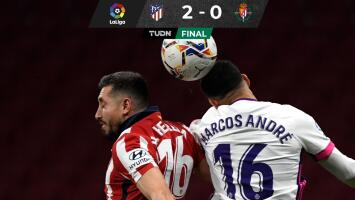 Atlético de Madrid, con Héctor Herrera, vence al Valladolid y se aferra al liderato
