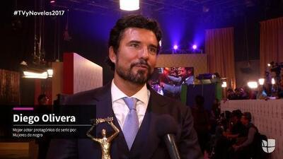 Diego Olivera se coronó como 'Actor protagónico de serie'