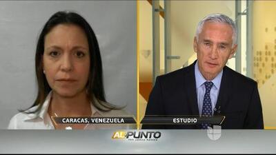 """""""El tiempo se les acabó"""": María Corina Machado reafirma la lucha de la oposición por Venezuela"""