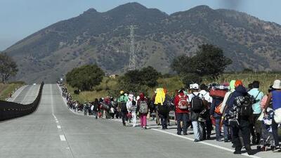 Coordinadores de la caravana acusan al gobierno de Jalisco de abandonarlos en una carretera