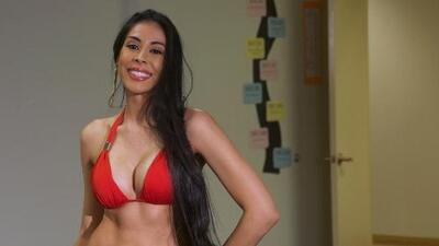 La sexy Mexicana Ana Valencia audiciona para Nuestra Belleza Latina 2013.