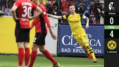 Freiburg 0-4 Borussia Dortmund - GOLES Y RESUMEN - JORNADA 30 -Bundesliga