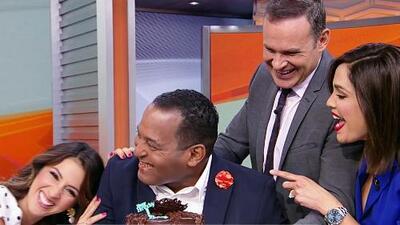 Con un pastel y el 'Happy Birthday' celebramos el cumpleaños de Tony Dandrades