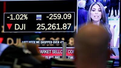 Los últimos momentos del cierre de la Bolsa de Nueva York con la mayor caída en puntos de la historia