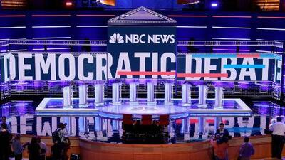 Todo está listo para el primer debate entre los aspirantes a la nominación demócrata para la presidencia de EEUU