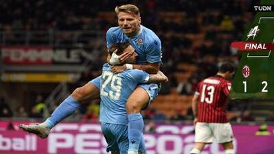 Lazio vence al Milan y se mete a puestos de Champions