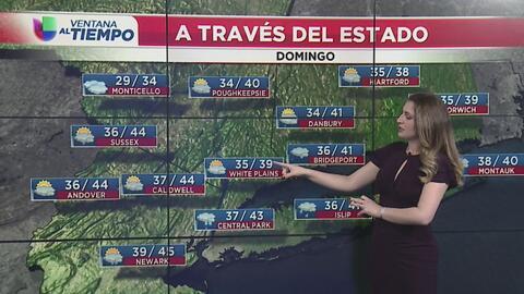 Fuerte descenso en las temperaturas para este domingo en Nueva York