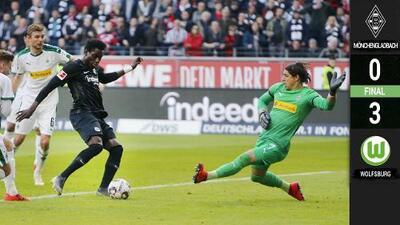 El Wolfsburg se acerca a puestos de Champions tras su inesperada goleada al Gladbach