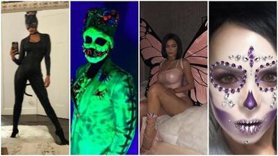 Los famosos se contagian por la fiebre de Halloween: así lucen sus disfraces