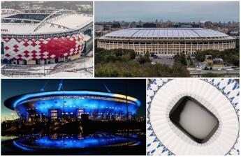 A 100 días, así están las obras en los estadios para el Mundial de Rusia 2018