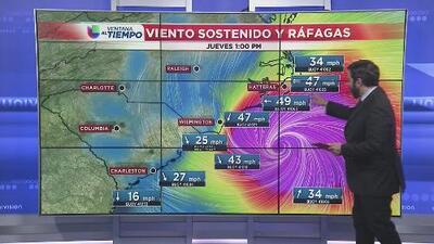 Florence comienza a azotar Carolina del Norte con lluvias y fuertes ráfagas de viento