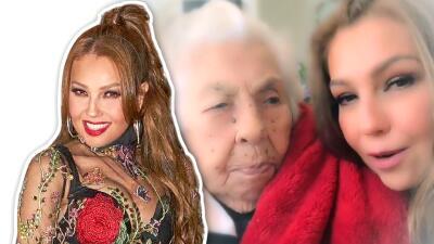 Thalía demuestra que su abuelita, de 101 años de edad, tiene mejor memoria que ella
