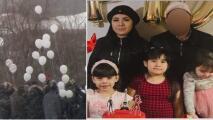 Con globos blancos, dan el último adiós a familia que murió en el incendio de una vivienda en Des Plaines