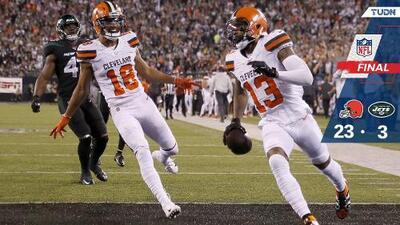Cleveland luce sólido ante los Jets y capturan su primer triunfo
