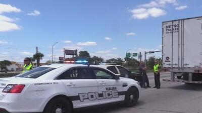 Un hombre muere tras ser arrollado violentamente por un camión en una concurrida vía del oeste de Hialeah