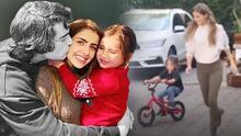 Sin Danilo Carrera, el hijo de Michelle Renaud logra andar en bicicleta sin rueditas