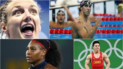 Así fue la actividad del cuarto día: Phelps 21 de oro, las reinas Hooszu y Biles, adiós Serena