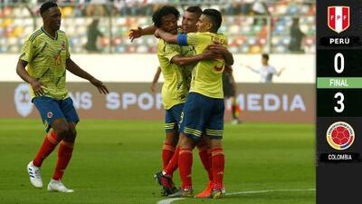 Con los del América de Liga MX brillando, Colombia vapuleó al Perú