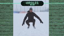El extremo entrenamiento de Djokovic bajo la nieve