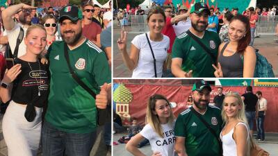 EN FOTOS: La fiebre de El Pelón llegó al Mundial y tiene a las rusas alborotadas