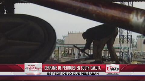 17 mil galones de petróleo se han derramado en South Dakota