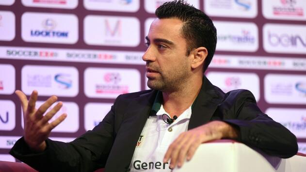 """Xavi: """"No sería inconveniente entrenar al Barcelona"""""""