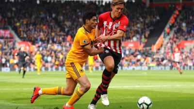 En fotos: con 90 minutos de Raúl Jiménez, los Wolves cayeron en su visita al Southampton