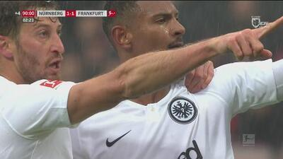 Frankfurt le empató al Nümberg con agónico gol de Sébastien Haller