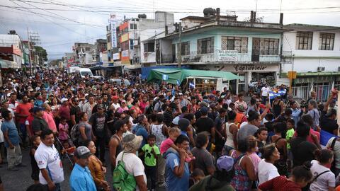 Caravana de centroamericanos en México: migrantes insisten en decirle a Trump que no son una amenaza