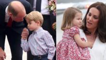 Mira las tiernas caritas de timidez del príncipe George y la princesa Charlotte