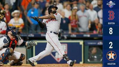 Red Sox tunden a Roberto Osuna y se llevan el Juego 3 en Houston