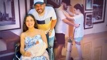 La esposa de Manny Cruz aprende a caminar otra vez de la mano del cantante tras estar al borde de la muerte