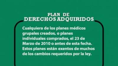 Glosario de términos: Plan de Derechos Adquiridos