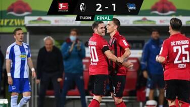 Friburgo vence al Hertha y entra parcialmente a puestos europeos