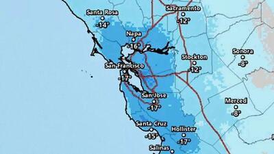 Termómetro en descenso: en 24 horas la temperatura disminuyó 27° F en el Área de la Bahía