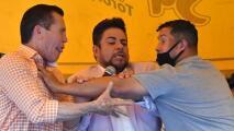 """""""¡Ya me calenté!"""" Chávez y Camacho Jr. se agreden en cara a cara"""