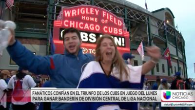 Fanáticos de los Cubs confían en victoria que permita obtener el banderín de División Central de la Liga Nacional