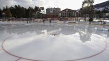 NHL celebra juego junto a un lago natural con equipo de Las Vegas