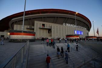 Los momentos previos al Atlético de Madrid ante Club Brugge por la Champions League
