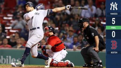 Los Yankees ponen fin a reinado de tres años de Boston en el Este