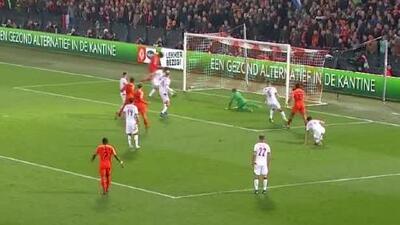 ¡Fiesta de goles! Van Dijk anota el 4-0 de Holanda a Bielorrusia