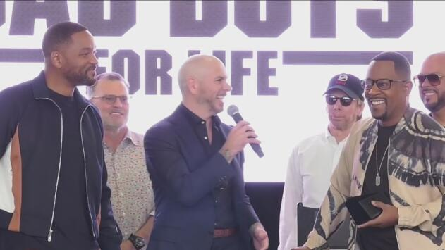 """Así fue el encuentro de los """"Bad Boys"""", Will Smith y Martin Lawrence, con el cantante Pitbull"""