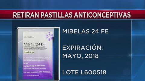 Retiran del mercado un lote de pastillas anticonceptivas Mibelas 24 FE