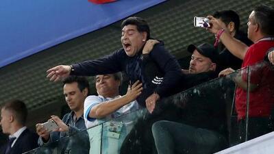 Maradona fue llevado al hospital después del juego contra Nigeria